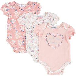 Baby Girls 3-pk. Floral Bodysuits