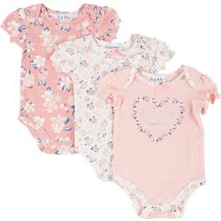 Baby Girls 3-pk. Floral Bodysuits