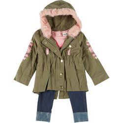 Baby Girls 3-pc. Floral Jacket & Leggings Set