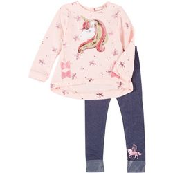 Little Lass Toddler Girls 2-pc. Sequin Unicorn Leggings Set