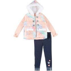 Little Lass Toddler Girls 3-pc. Tie Dye Vest Set