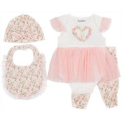 Nicole Miller New York Baby Girls 4-pc. Floral Legging Set