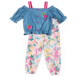 Toddler Girls Floral Capri Set