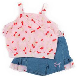 Betsey Johnson Toddler Girls 2-pc. Cherry Short Set