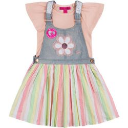 Toddler Girls Denim Skirtall Set