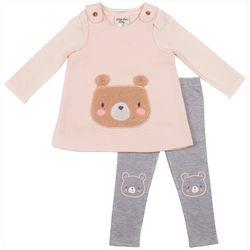 Little Lass Baby Girls 2-pc. Bear Leggings Set