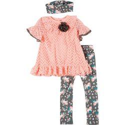 Toddler Girls 3-pc. Unicorn Print Leggings Set