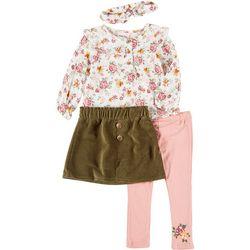 Toddler Girls 4-pc. Floral Set