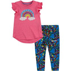 Crayola Toddler Girls 2-pc. Rainbow Crayon Leggings Set