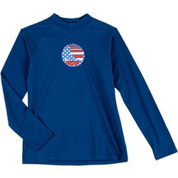 Reel Legends Toddler Girls Americana Rashguard
