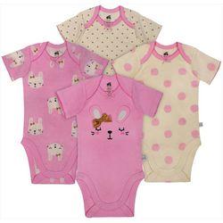Just Born Baby Girls 4-pk. Sleepy Bunny Bodysuits