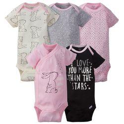 Gerber Baby Girls 5-pc. Bunny Bodysuit Set