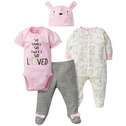 Baby Girls 4-pc. So Small So Sweet So Loved Sleep Set
