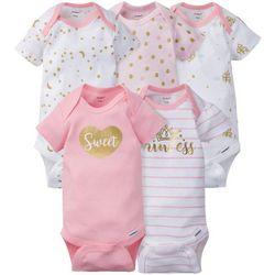 Gerber Baby Girls 5-pc. Princess Bodysuit Set