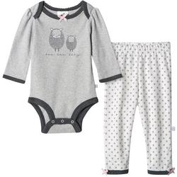 Baby Girls Organic Floral Lamb Bodysuit Set