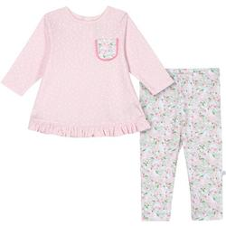 Baby Girls Organic Polka Dot Llama Leggings Set