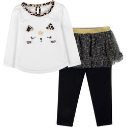 Baby Girls Cat Tutu Leggings Set