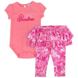 Sunshine Baby Baby Girls Paradise Ruffle Leggings Set