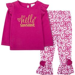 Sunshine Baby Baby Girls Hello Sunshine Ruffle Pants Set