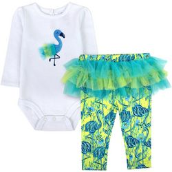 Sunshine Baby Baby Girls Flamingo Tutu Long Sleeve Pants Set