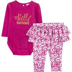 Sunshine Baby Baby Girls Hello Sunshine Ruffle Bodysuit Set