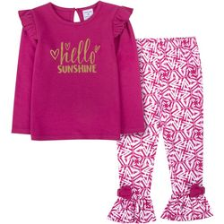 Sunshine Baby Toddler Girls Hello Sunshine Ruffle Pants Set