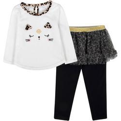 Toddler Girls Cat Tutu Leggings Set