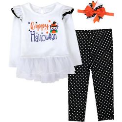 Baby Girls 3-pc. Halloween Leggings Set