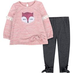 Toddler Girl Sequin Fox Leggings Set