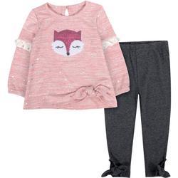Toddler Girl Sequin Fox Leggings Set
