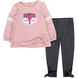 Sunshine Baby Baby Girl Sequin Fox Leggings Set