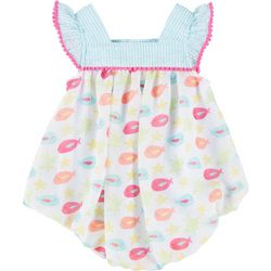 Sunshine Baby Baby Girls Chiffon Fish Bubble Romper