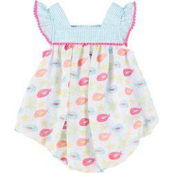 Sunshine Baby Baby Girls Chiffon Fish Bubble Romper