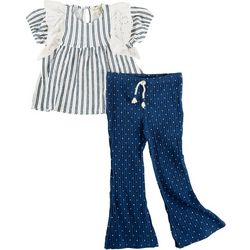 Jessica Simpson Toddler Girls 2-pc. Bell Bottom Pant Set