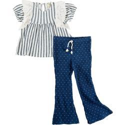 Toddler Girls 2-pc. Bell Bottom Pant Set