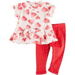 Toddler Girls 2-pc. Heart Leggings Set
