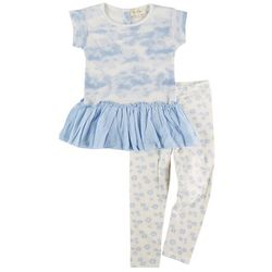 Jessica Simpson Toddler Girls 2-pc. Tie Dye Peplum Pant Set