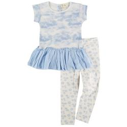 Toddler Girls 2-pc. Tie Dye Peplum Pant Set