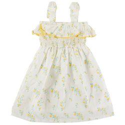Jessica Simpson Toddler Girls Floral Swiss Smocked Dress