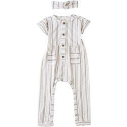 Baby Girls Vertical Stripe Romper