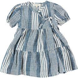 Jessica Simpson Baby Girls 2-pc. Stripe Wrap Dress