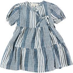 Baby Girls 2-pc. Stripe Wrap Dress