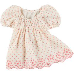 Baby Girls 2-pc. Puff Sleeve Dotted Dress