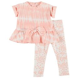 Jessica Simpson Baby Girls 2-pc. Peplum Tie Dye Pant Set