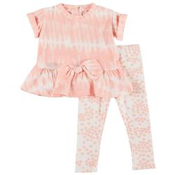 Baby Girls 2-pc. Peplum Tie Dye Pant Set