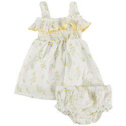 Jessica Simpson Baby Girls Floral Swiss Smocked Dress