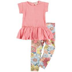 Baby Girls 2-pc. Floral Peplum Pant Set