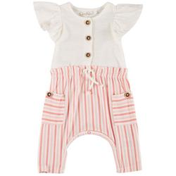Baby Girls Ruffle Stripe Romper
