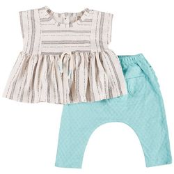 Jessica Simpson Baby Girls 2-pc. Peplum Ruffle Pant Set