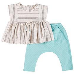 Baby Girls 2-pc. Peplum Ruffle Pant Set